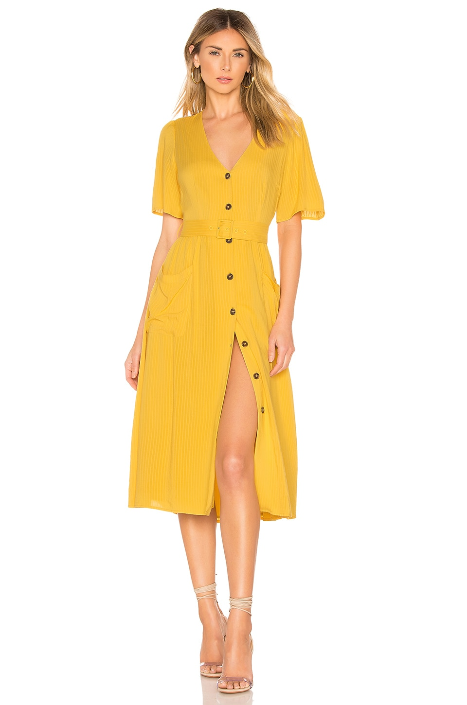 ASTR the Label Charli Dress in Sunflower Yellow