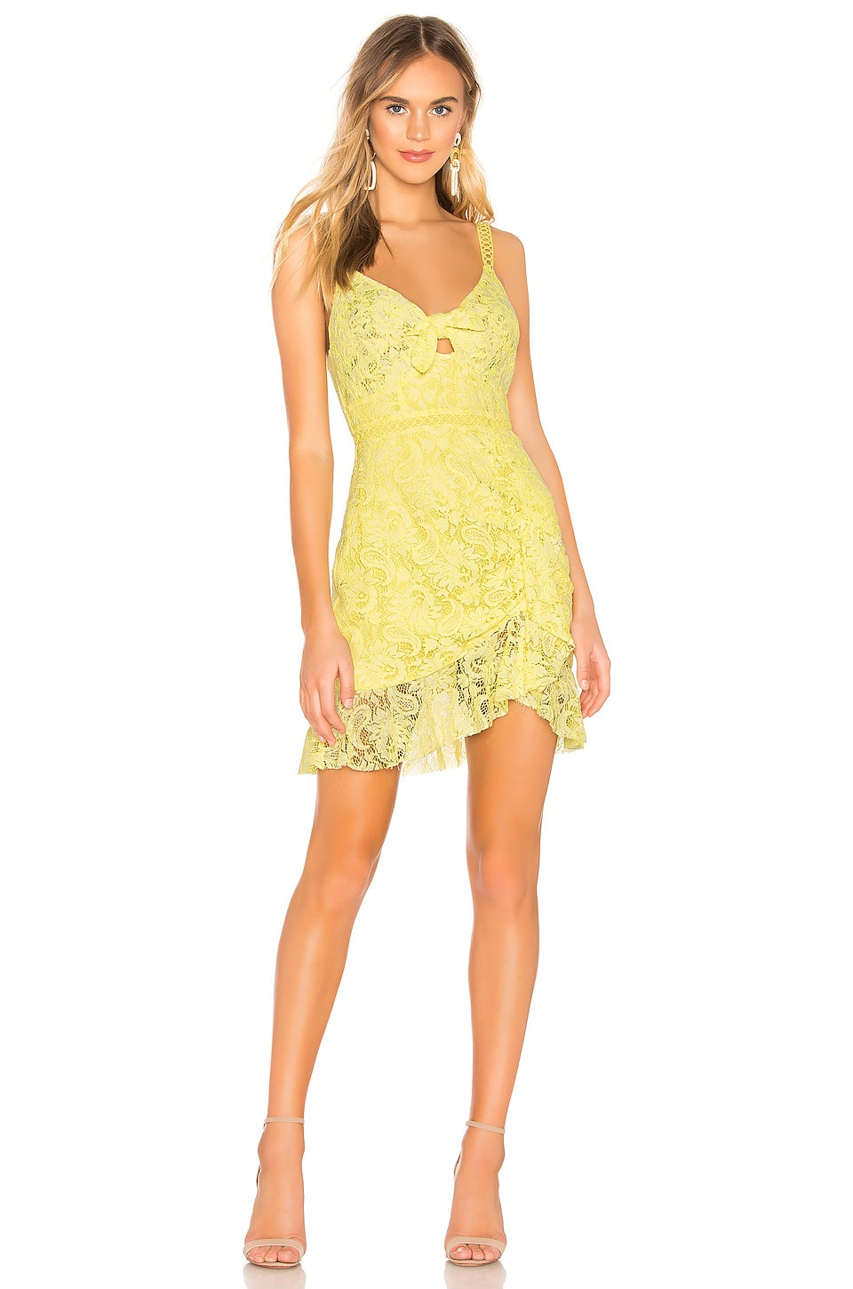 ASTR the Label Joey Dress in Lemon Drop Yellow