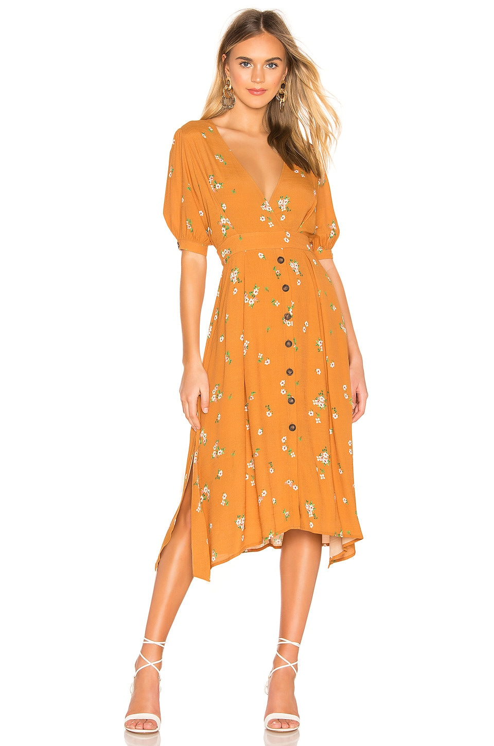 ASTR the Label Oakley Dress in Apricot Floral