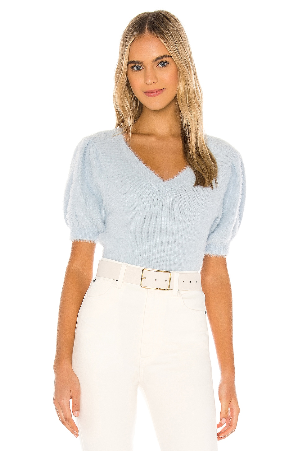 ASTR the Label Alina Sweater in Sky Blue