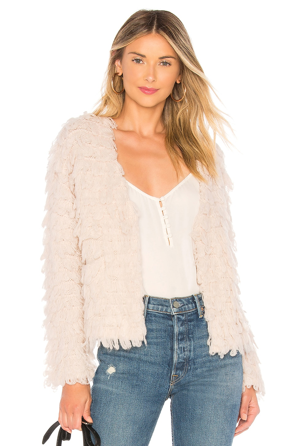 ASTR the Label Darby Sweater in Pale Blush