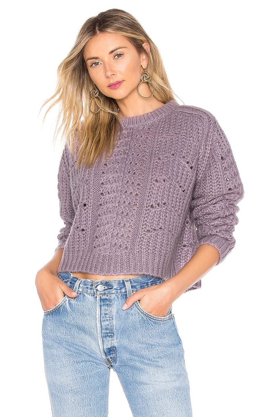 Georgia Sweater In Lilac