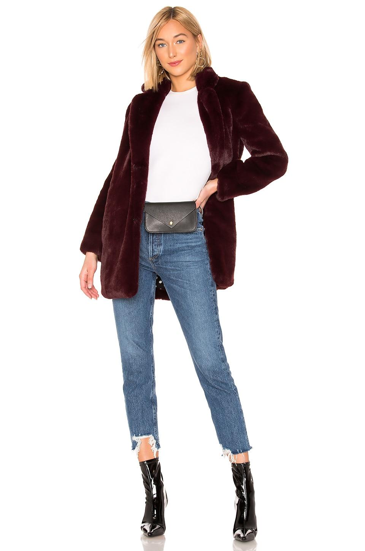 ASTR the Label Cleo Faux Fur Coat in Plum