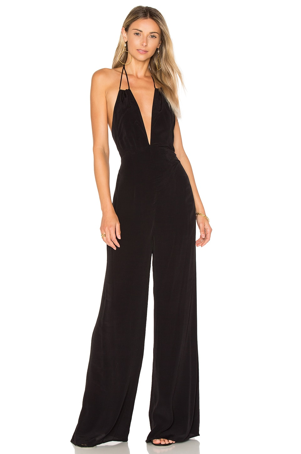 ASTR the Label Cassandra Jumpsuit in Black