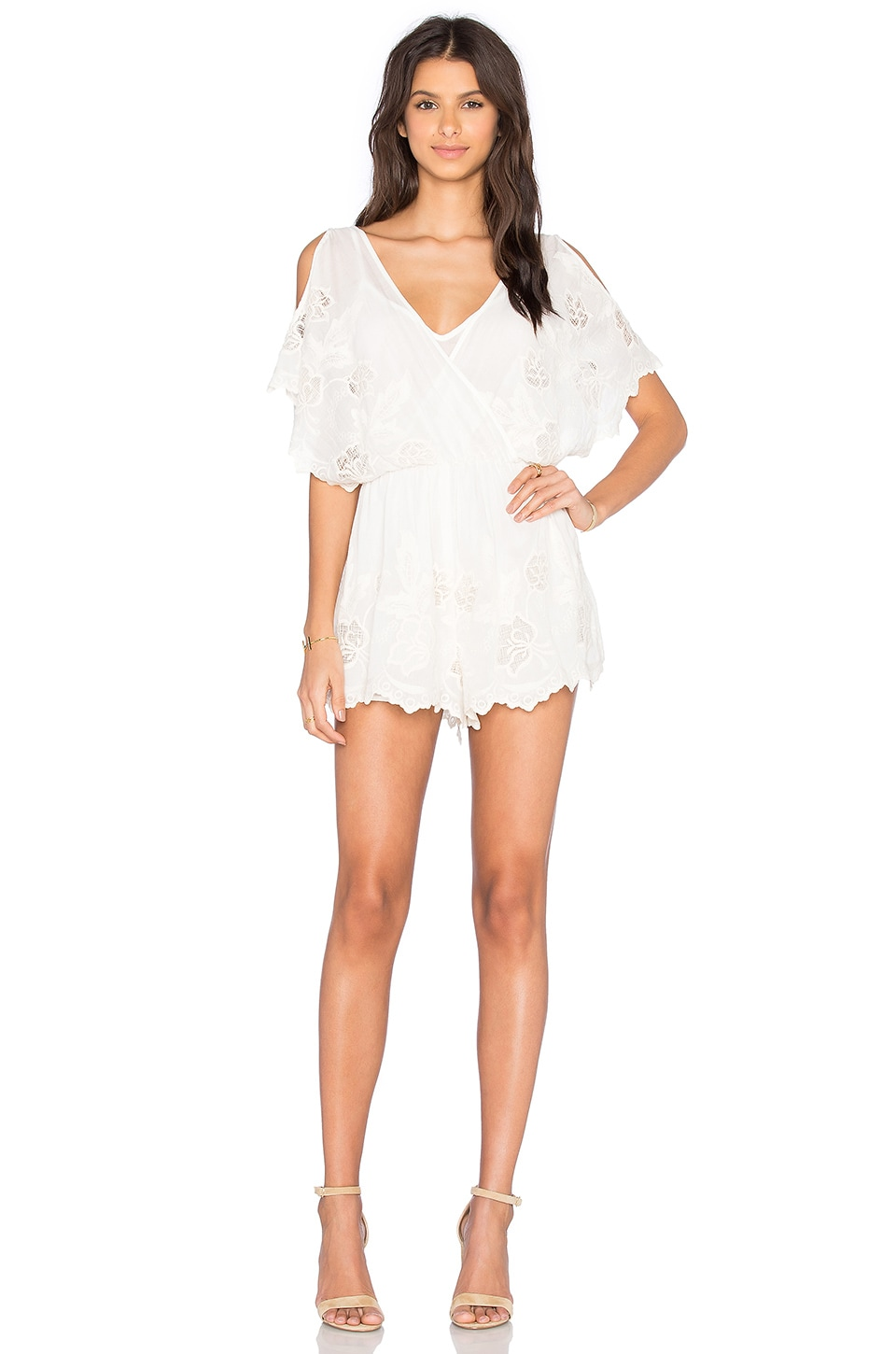 ASTR Alicia Romper in Ivory