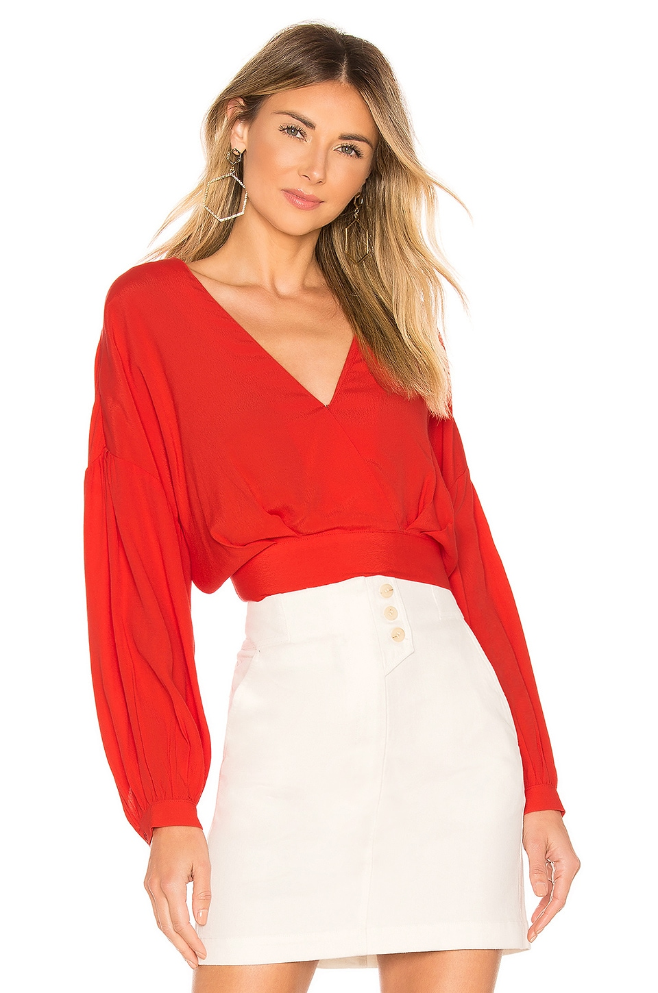 ASTR the Label Jaise Top in Red