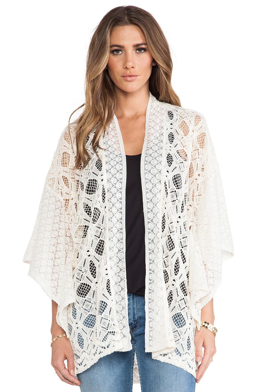 Anna Sui Ophelia Lace Kimono in Cream