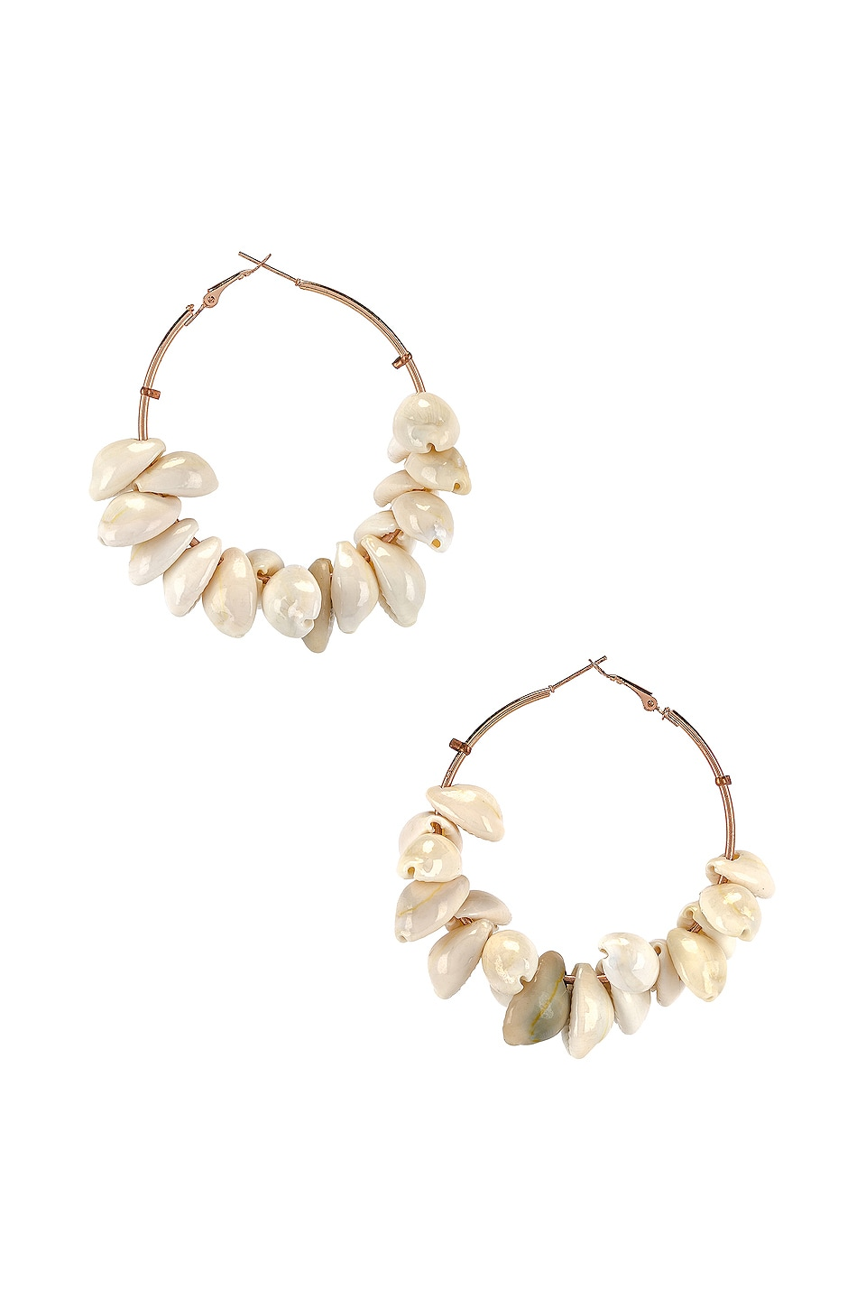 All Things Mochi Sherry Earrings in Shell