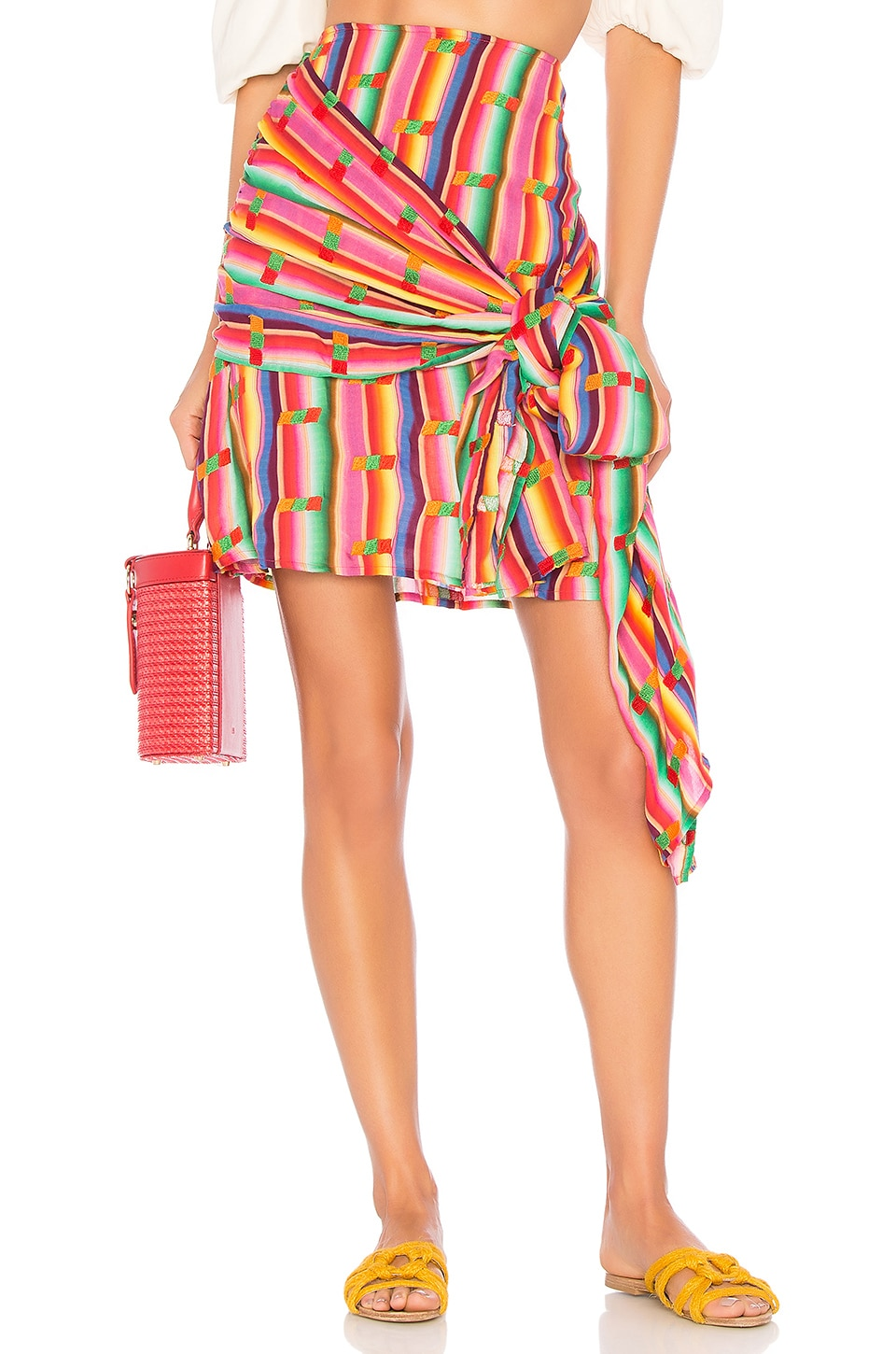 All Things Mochi Roselie Skirt in Rainbow