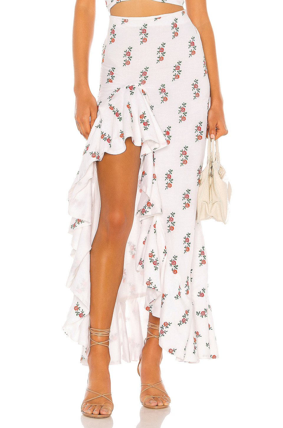 All Things Mochi Clara Skirt in White Red