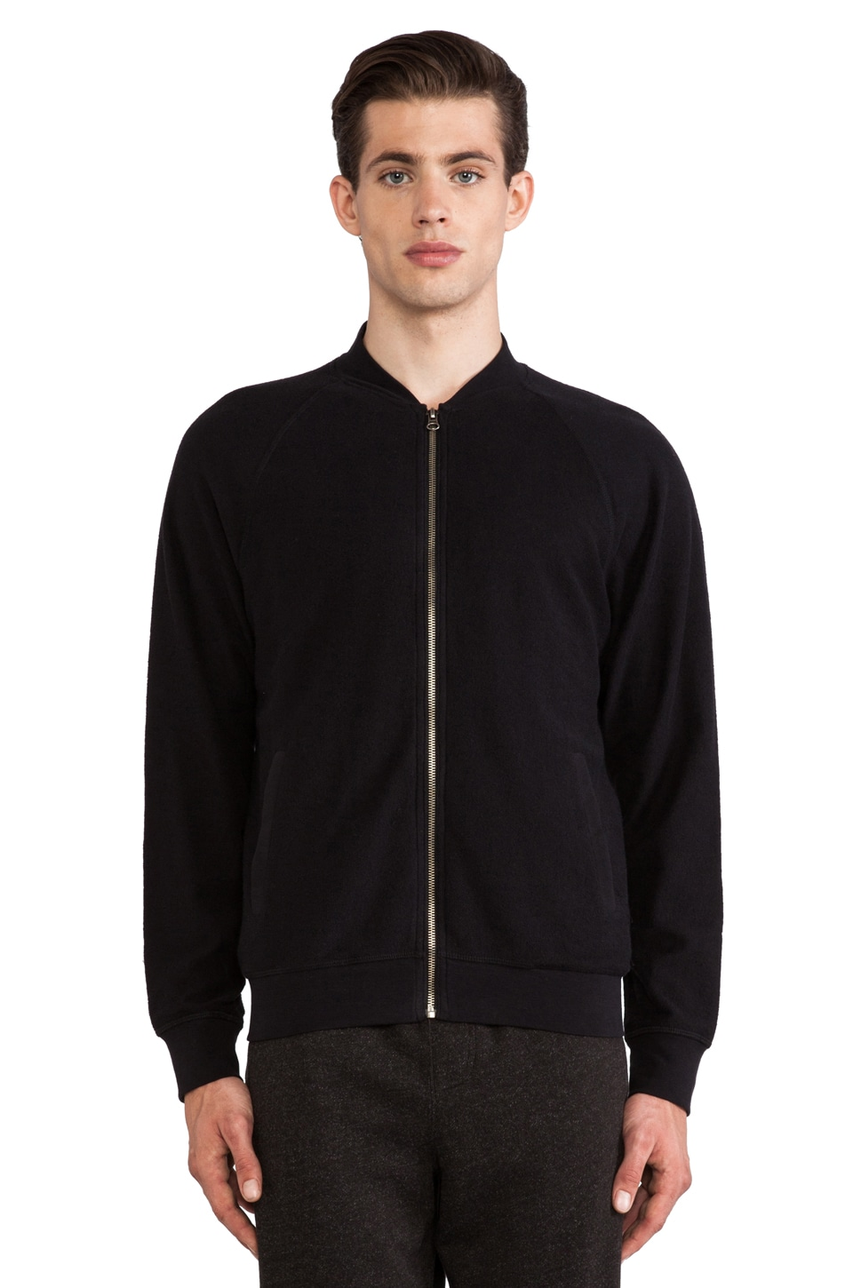 ATM Anthony Thomas Melillo Reverse French Terry Bomber in Black