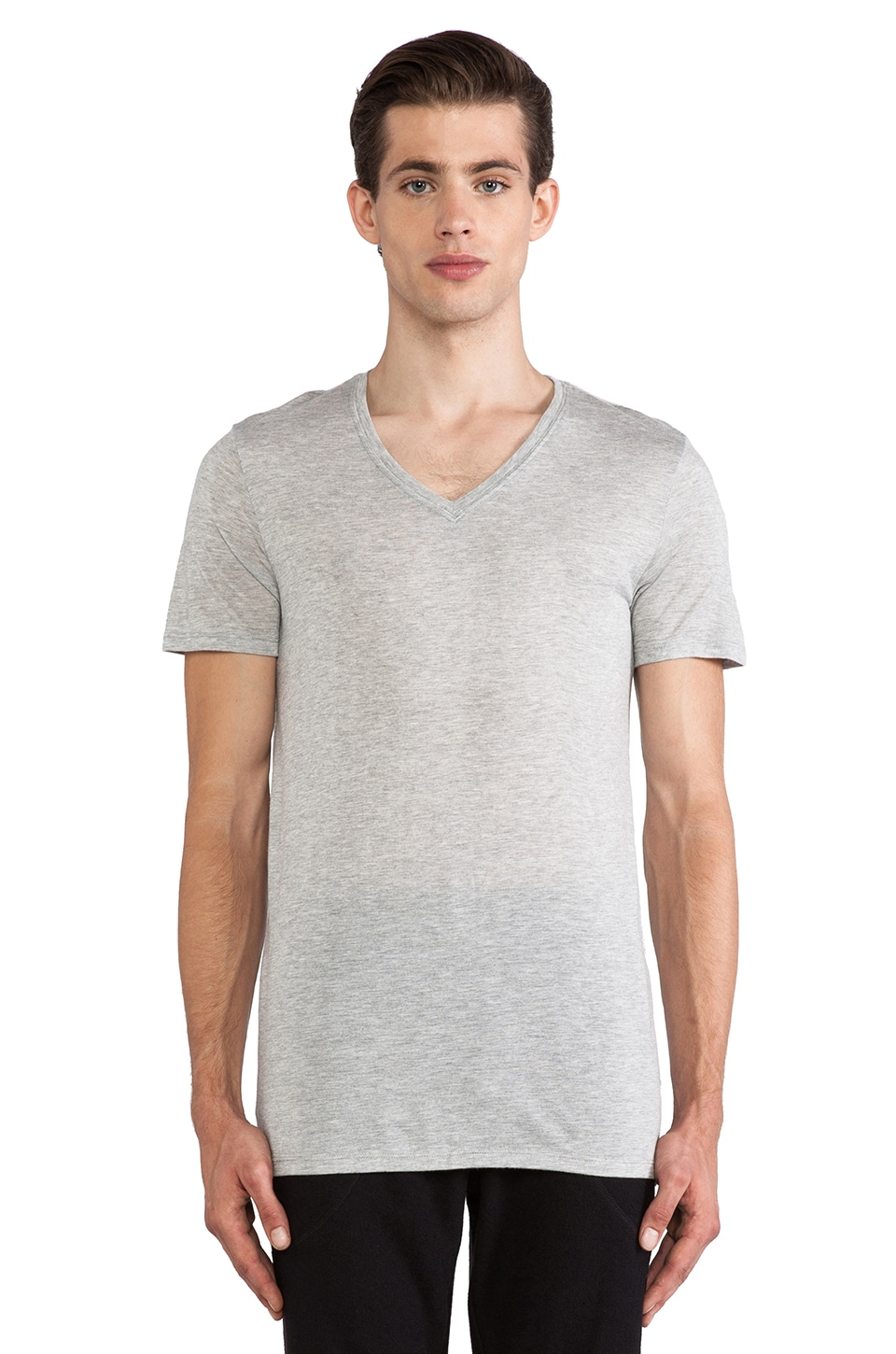 ATM Anthony Thomas Melillo Modal V-Neck in Heather Grey