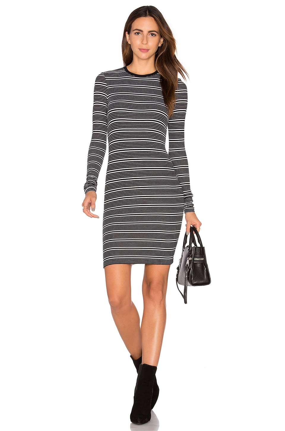 Stripe Long Sleeve Dress by ATM Anthony Thomas Melillo