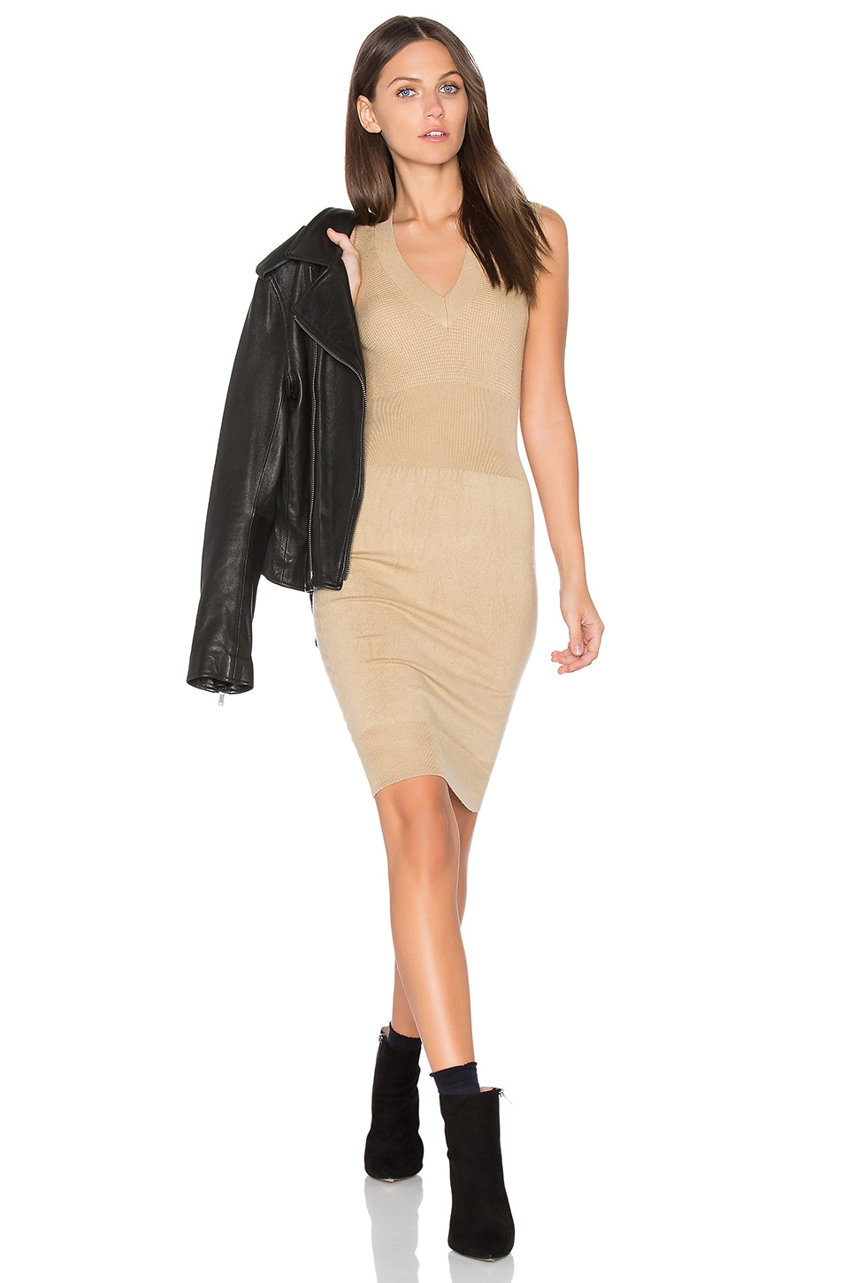 Sleeveless Sweater Tank Dress by ATM Anthony Thomas Melillo