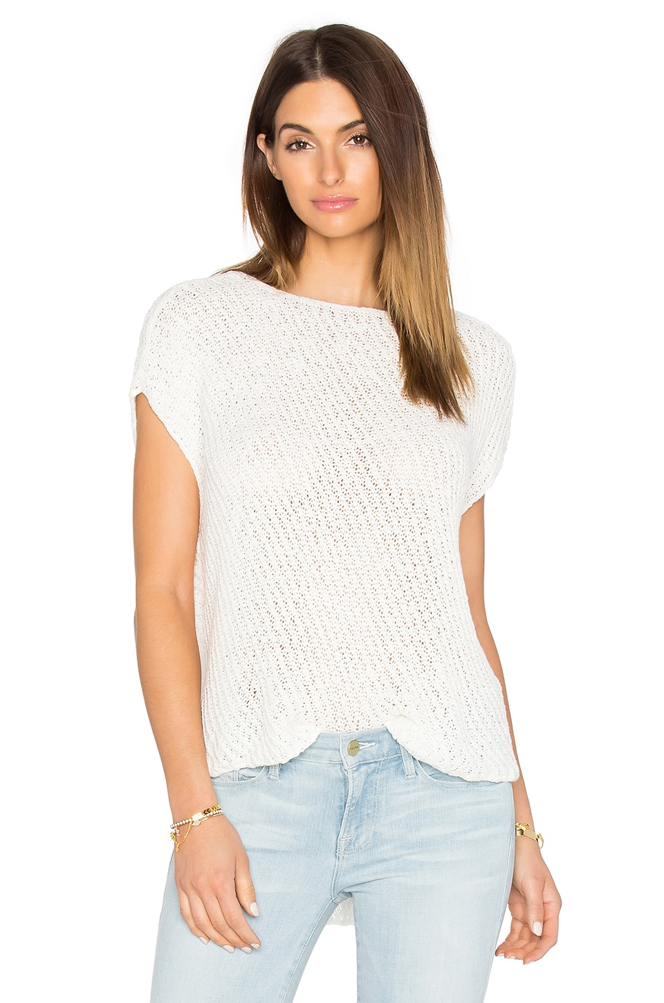 Diagonal Stitch Pullover Top by ATM Anthony Thomas Melillo