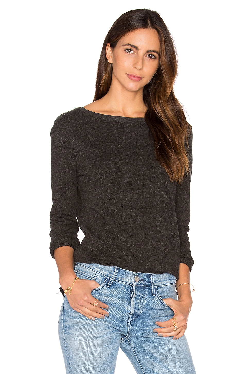 Unfinished Hem Sweatshirt by Atm Anthony Thomas Melillo