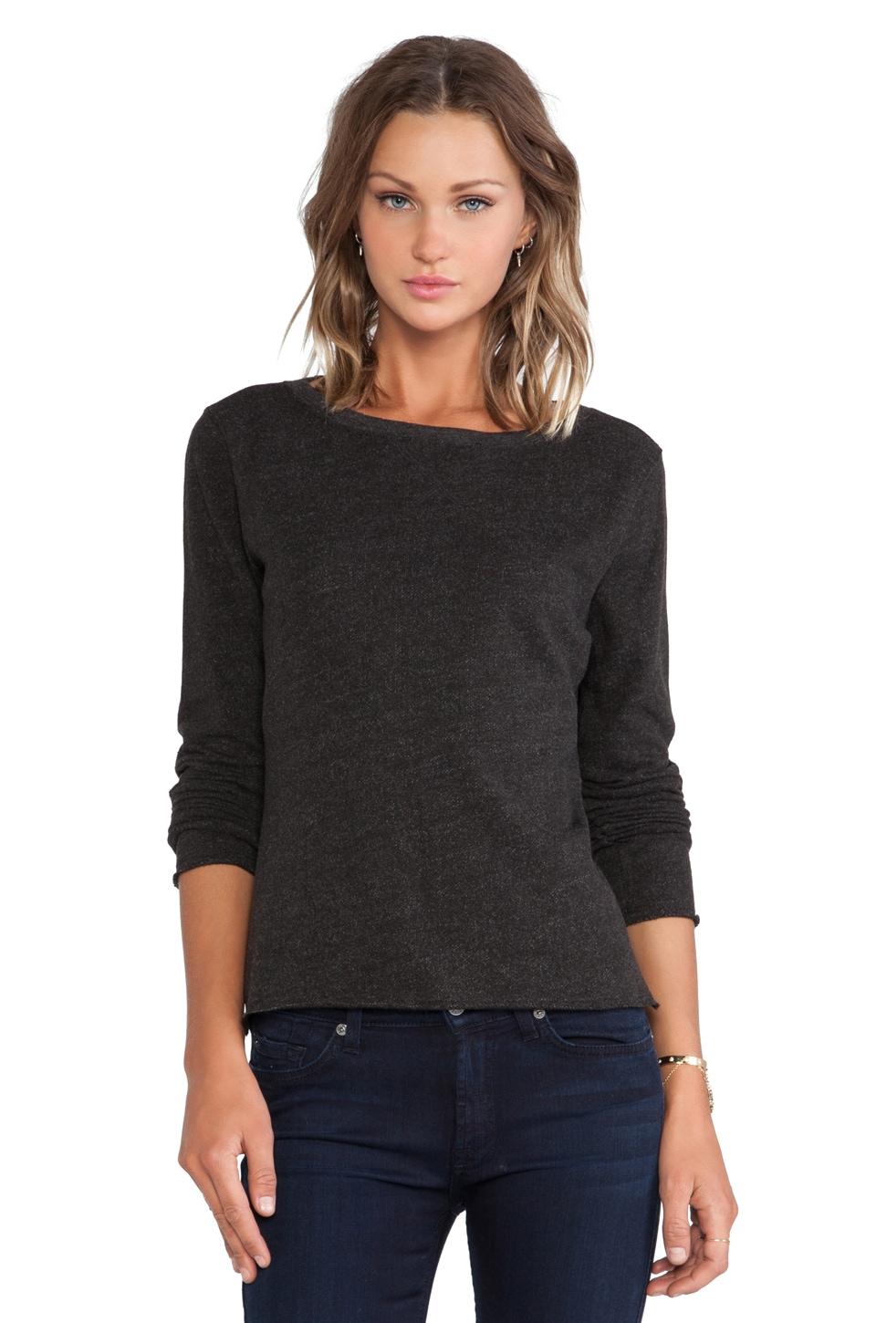 ATM Anthony Thomas Melillo French Terry Sweatshirt in Charcoal Heather