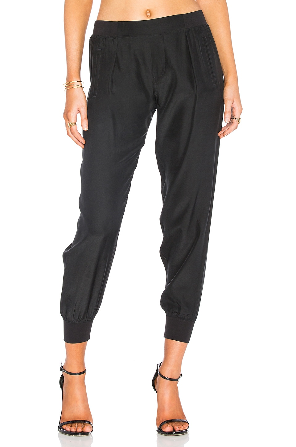 ATM Anthony Thomas Melillo Woven Jogger in Black