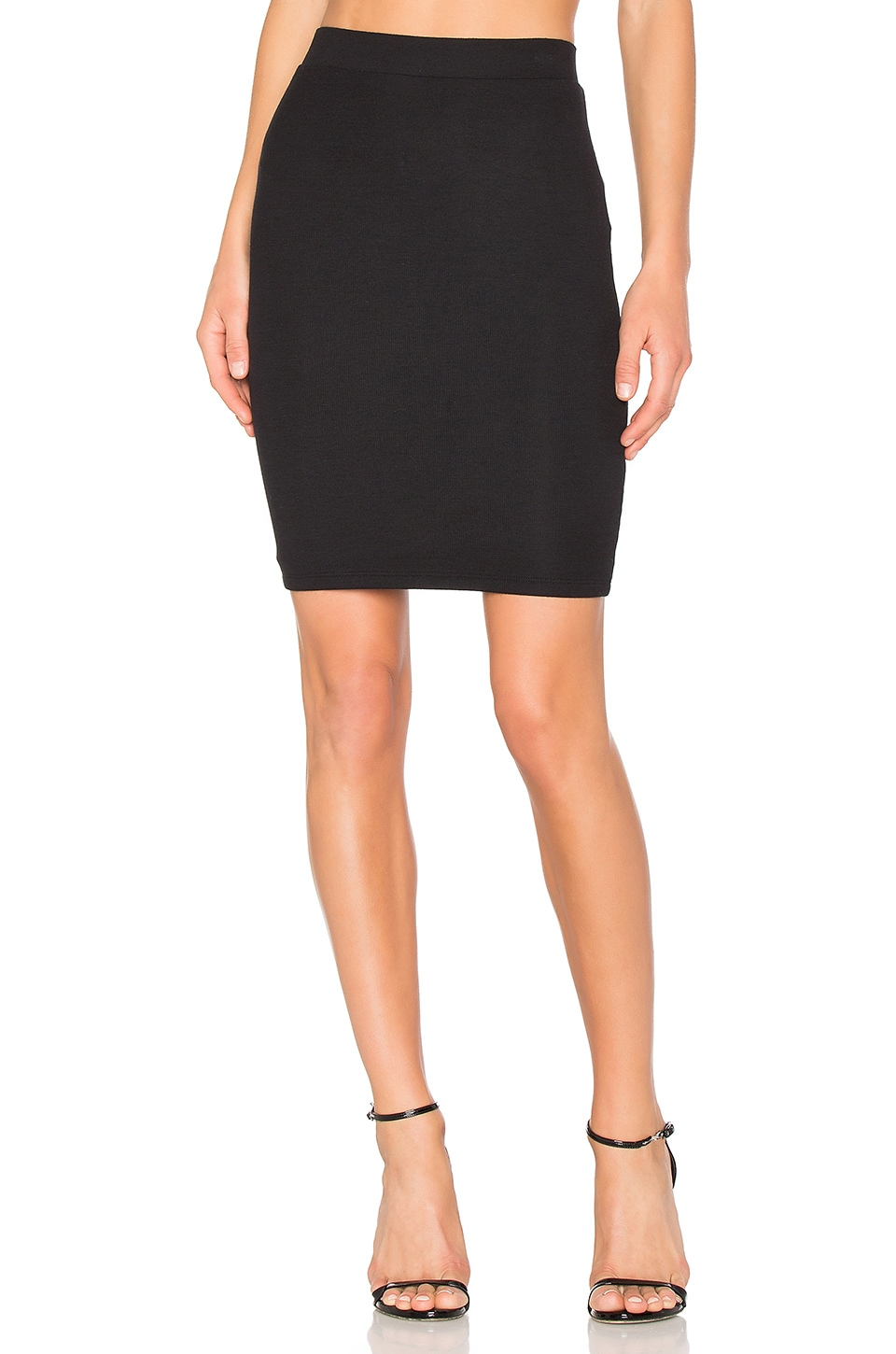 ATM Anthony Thomas Melillo Rib Pencil Skirt in Black