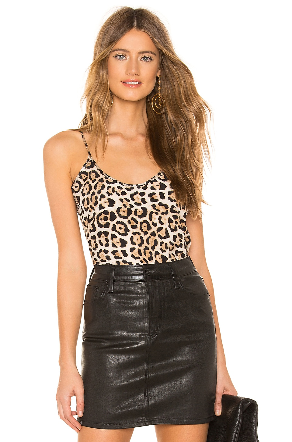 ATM Anthony Thomas Melillo Silk Cami in Leopard Print