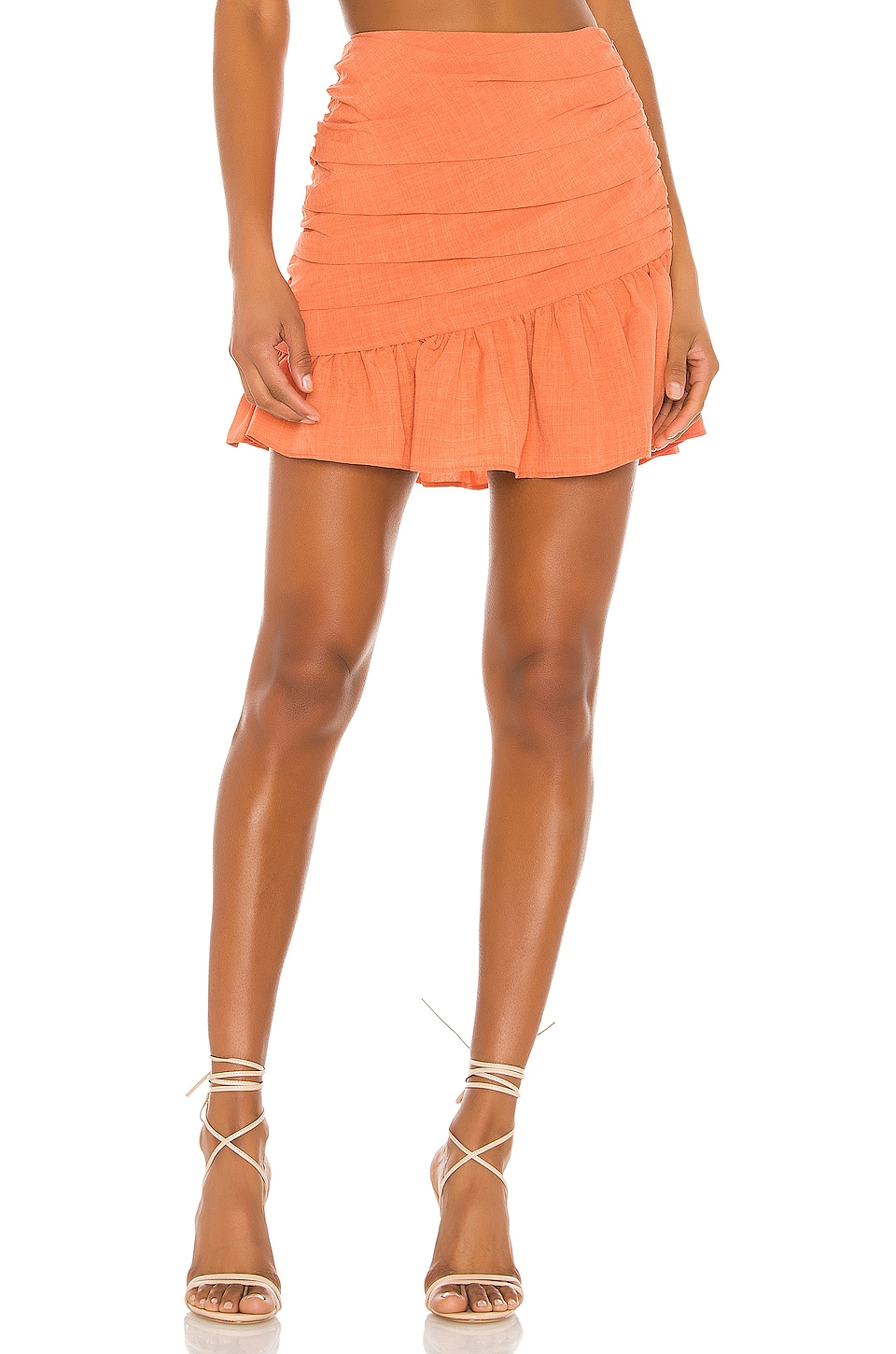 Atoir Outside Today Skirt in Sunset Orange