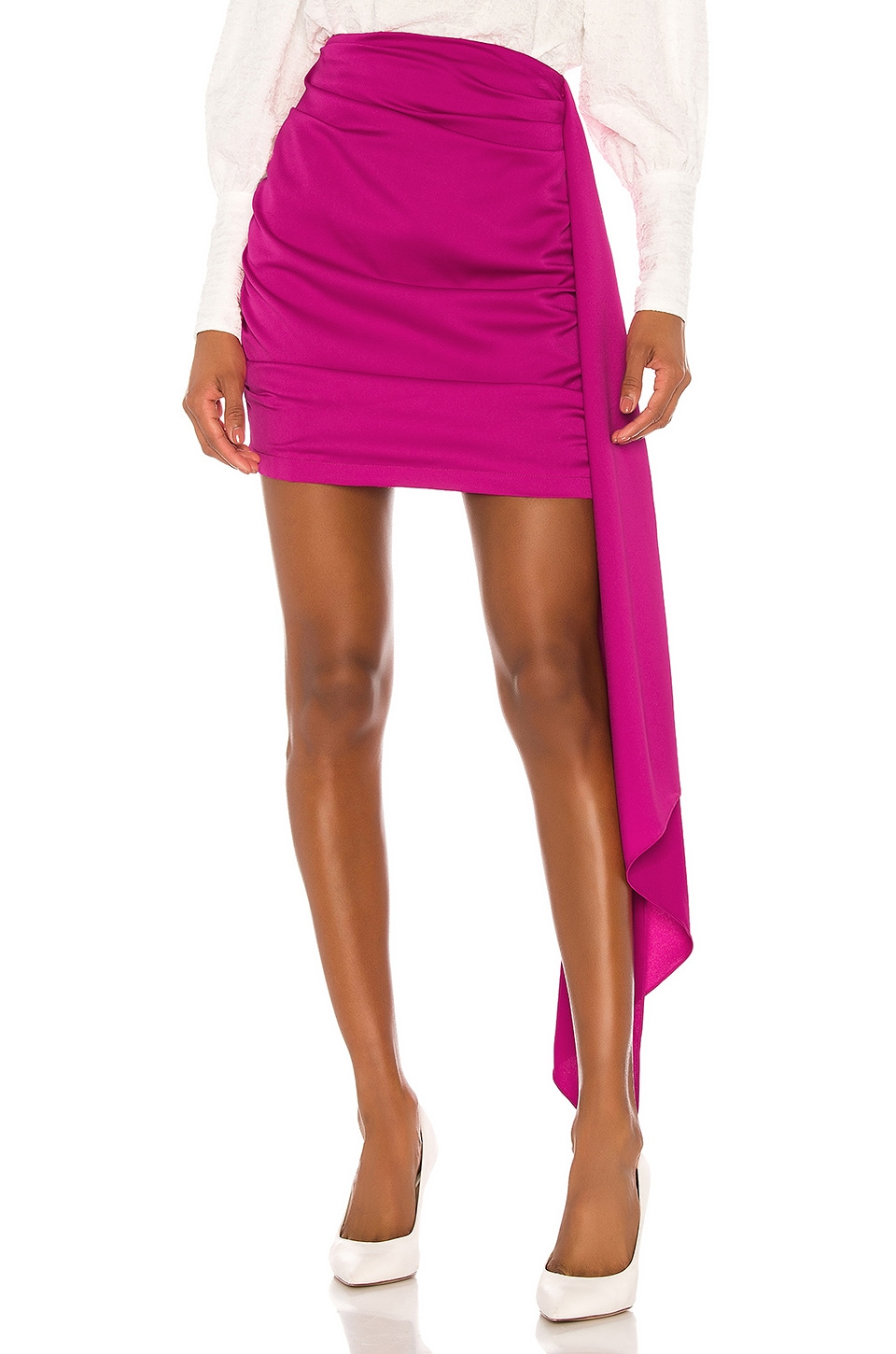 Atoir Turning Pages Skirt in Shocking Pink