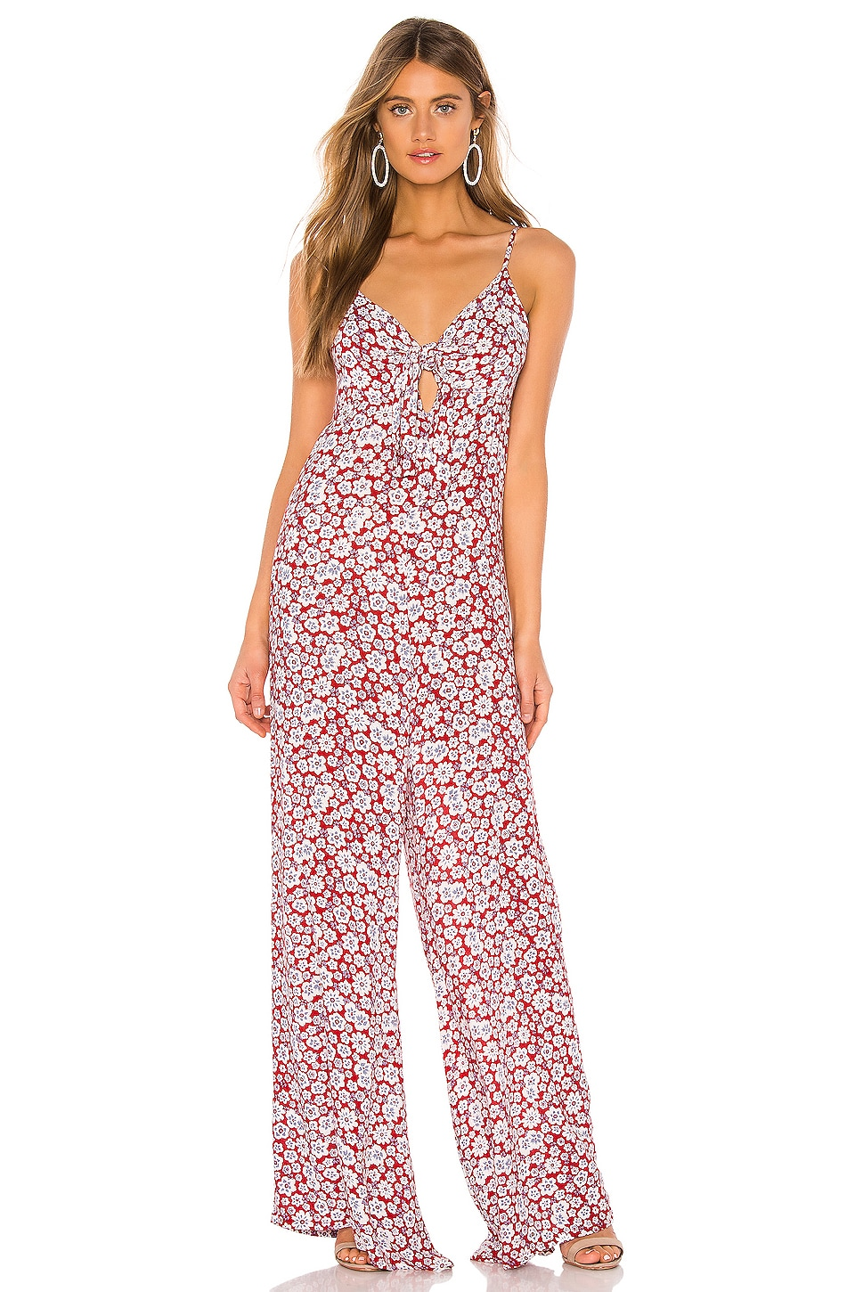 AUGUSTE Mila Palms Jumpsuit in Red