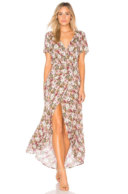 AUGUSTE Wild Rose Maxi Wrap Dress in Dusty Rose