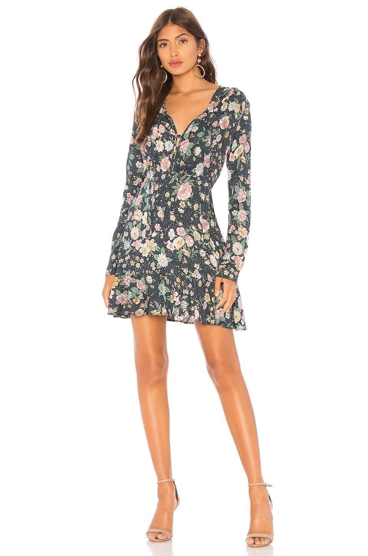 AUGUSTE Spring Rose Wylde Mini Dress in Navy