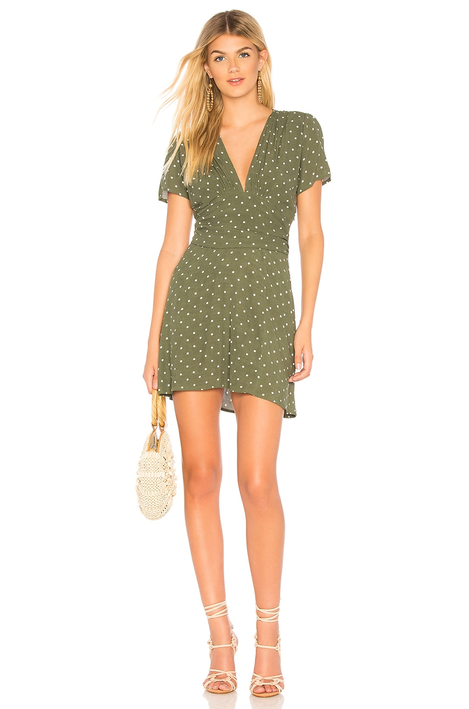 AUGUSTE Polly Goldie Mini Dress in Green