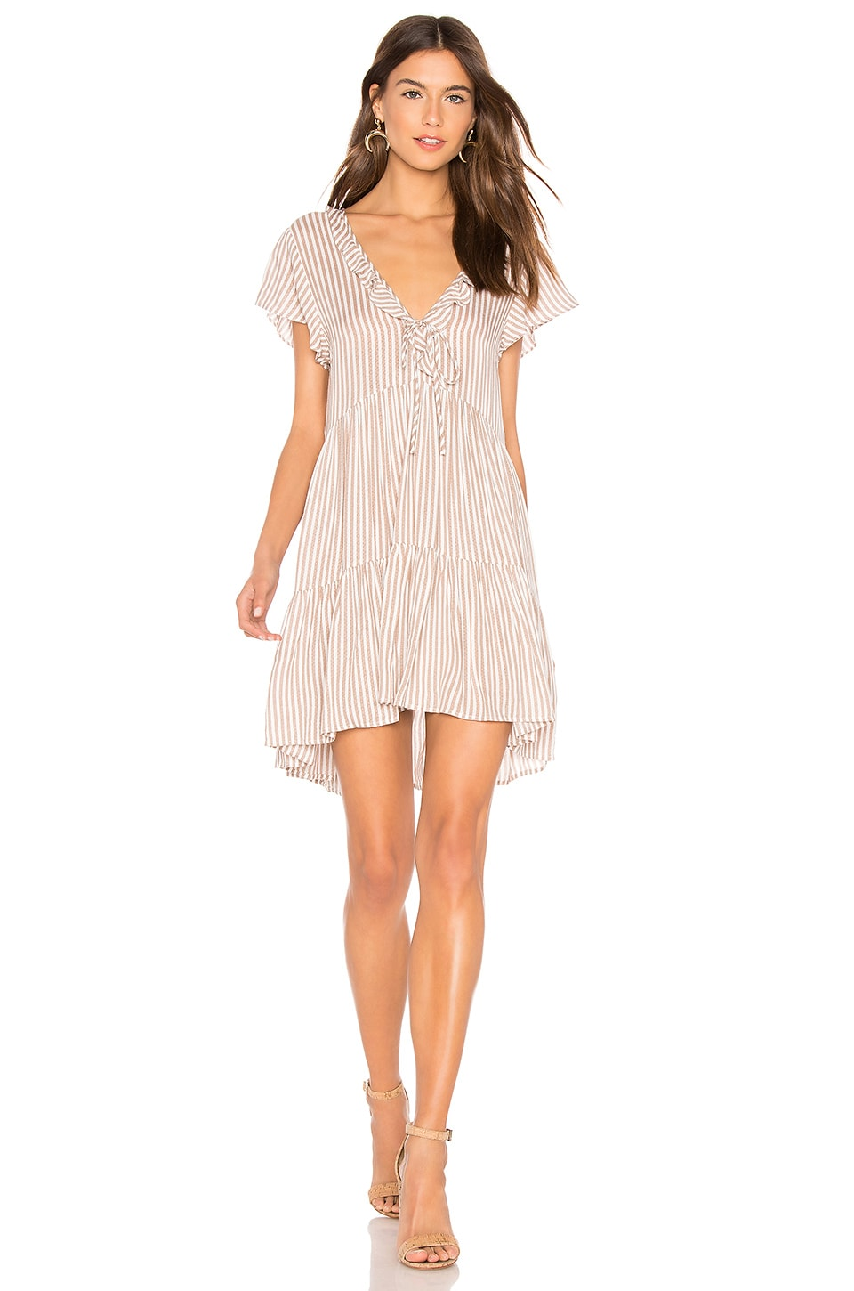 AUGUSTE Matilda Babydoll Dress in Almond Stripe