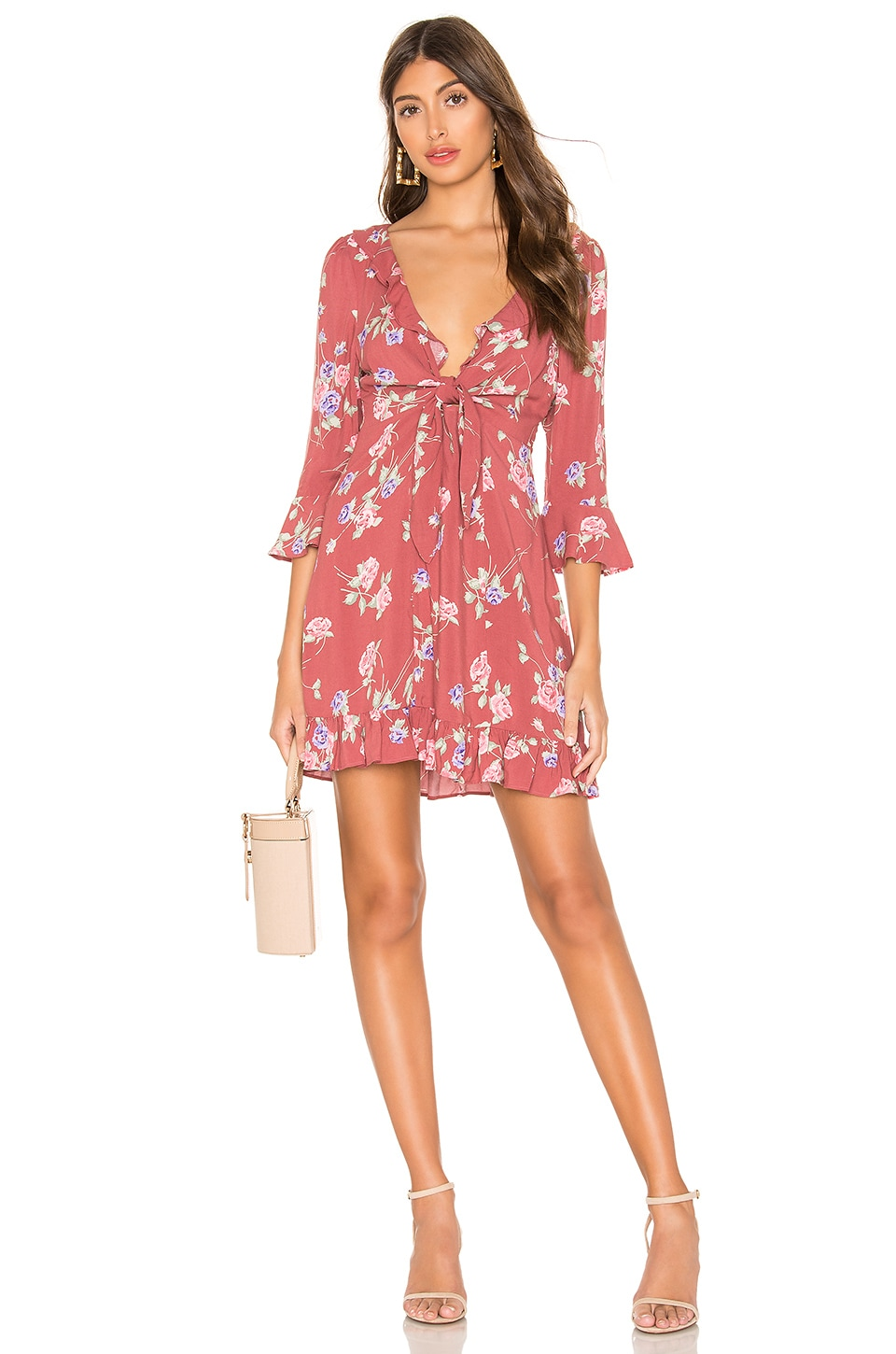 AUGUSTE X REVOLVE Rosa Rumba Sleeved Mini Dress in Blush