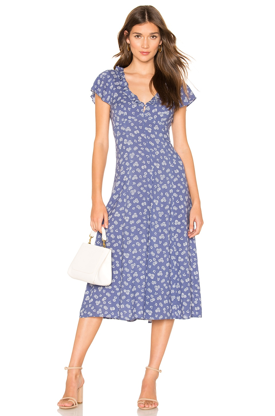 AUGUSTE Mae Devine Midi Dress in Blue