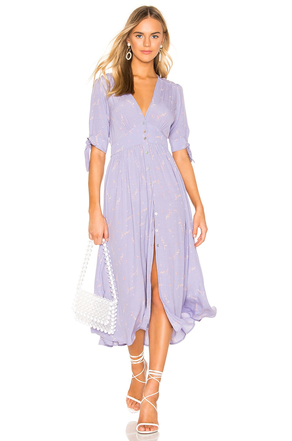 AUGUSTE X REVOLVE Clementine Tie Dress in Lavender