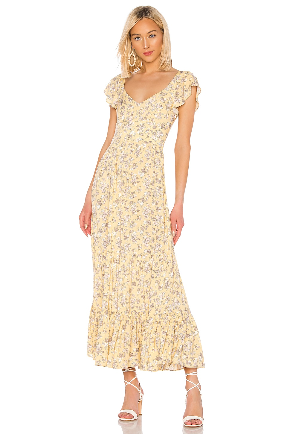 AUGUSTE Olsen Bella Maxi Dress in Lemon