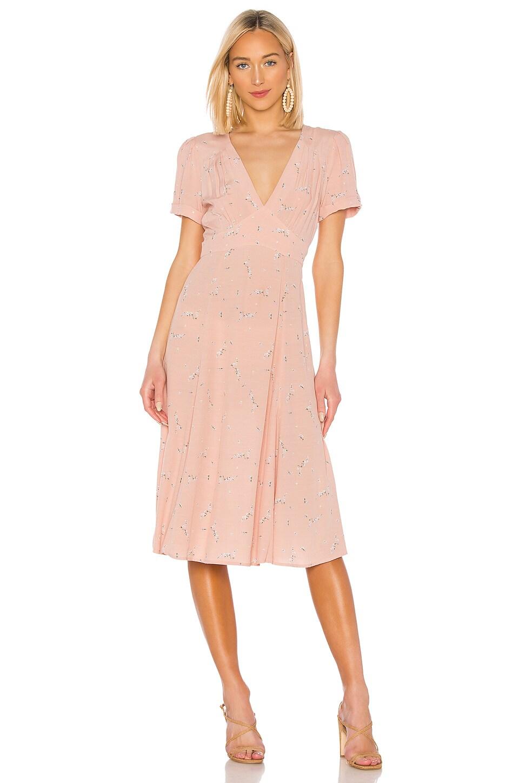 AUGUSTE Clementine Bonne Midi Dress in Blush