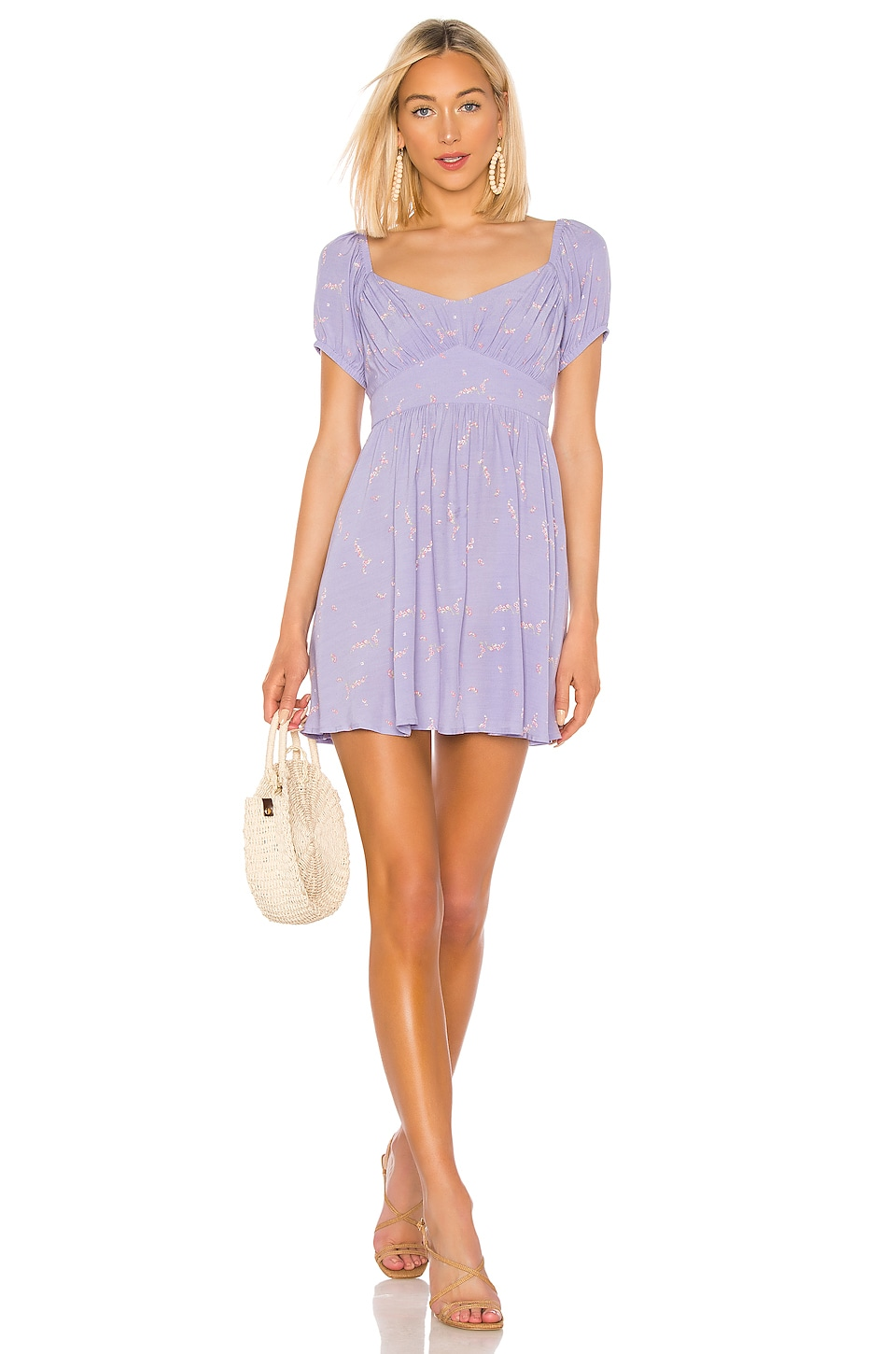 AUGUSTE Clementine Bonne Mini Dress in Lavender