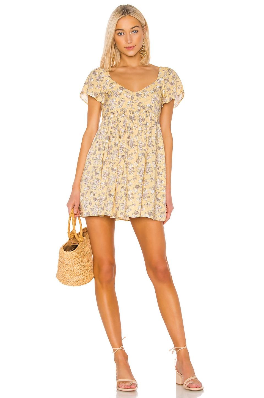 AUGUSTE X REVOLVE Olsen Belle Mini Dress in Lemon