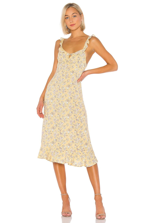 AUGUSTE X REVOLVE Olsen Love Midi Dress in Lemon