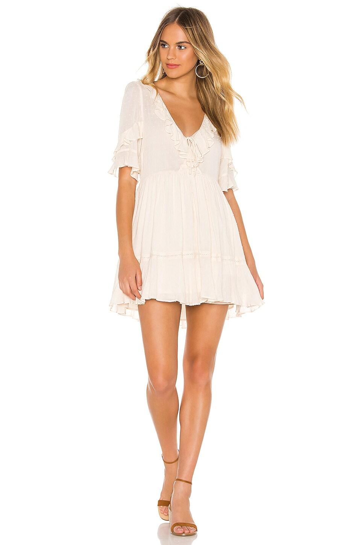 AUGUSTE Frida Mini Dress in Off White