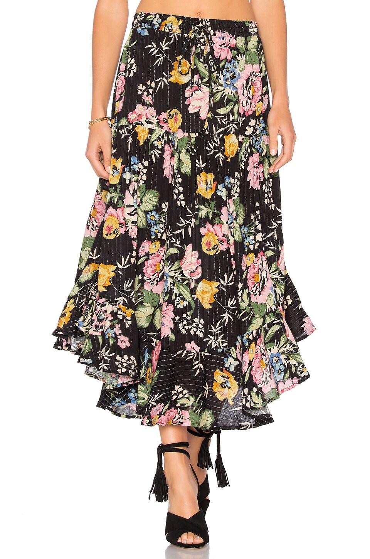 Delilah Frilled Midi Skirt by Auguste