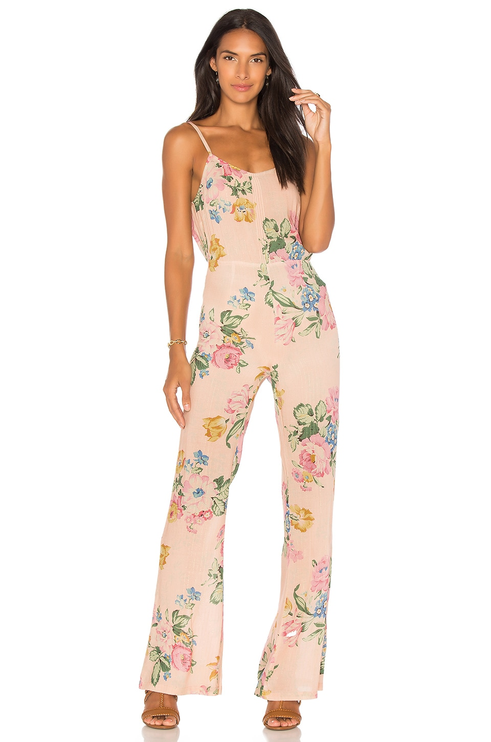 x REVOLVE Havana Nights Backless Splash Flared Jumpsuit by AUGUSTE