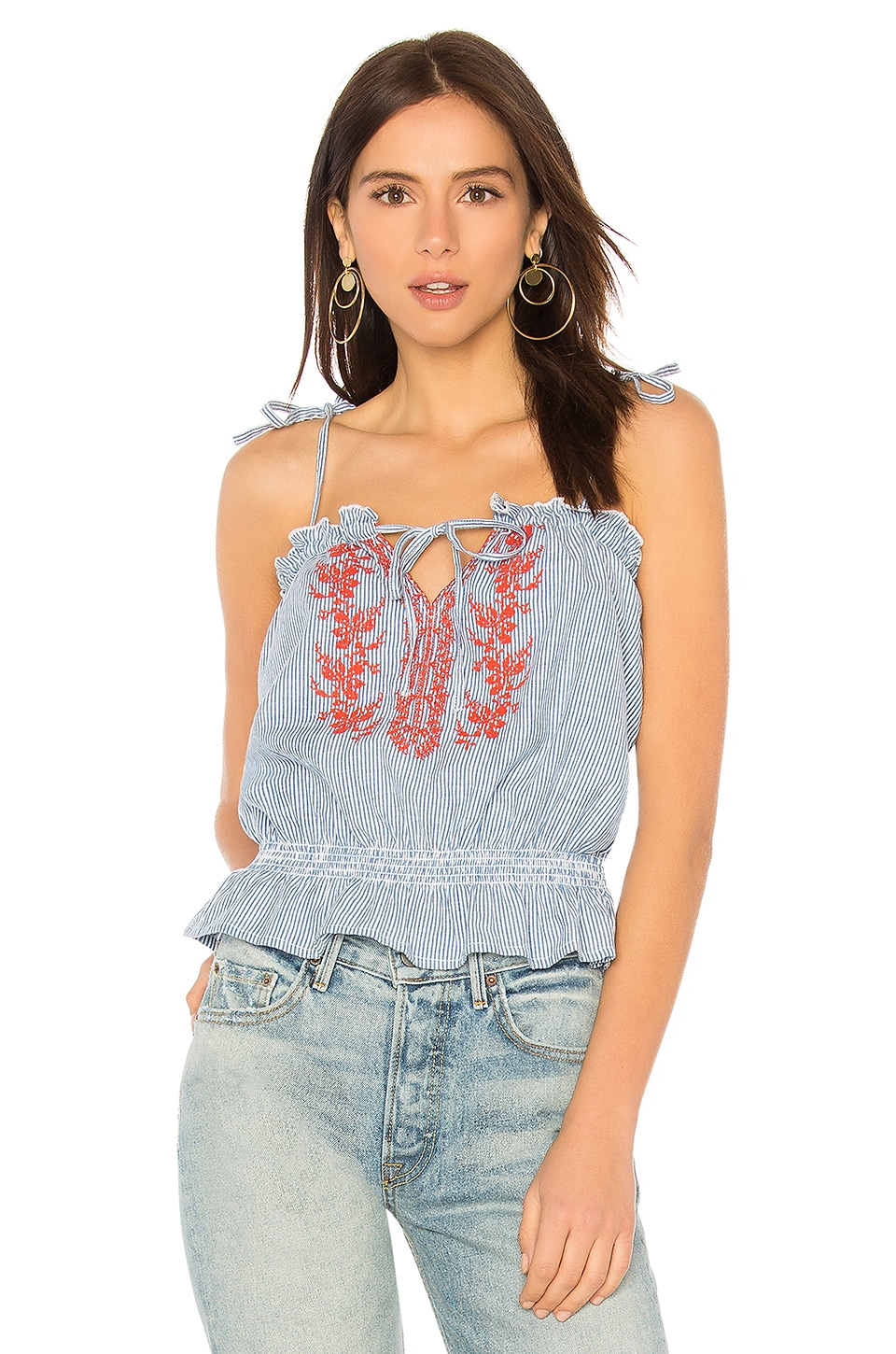 AUGUSTE IVY EMBROIDERED CAMI TOP