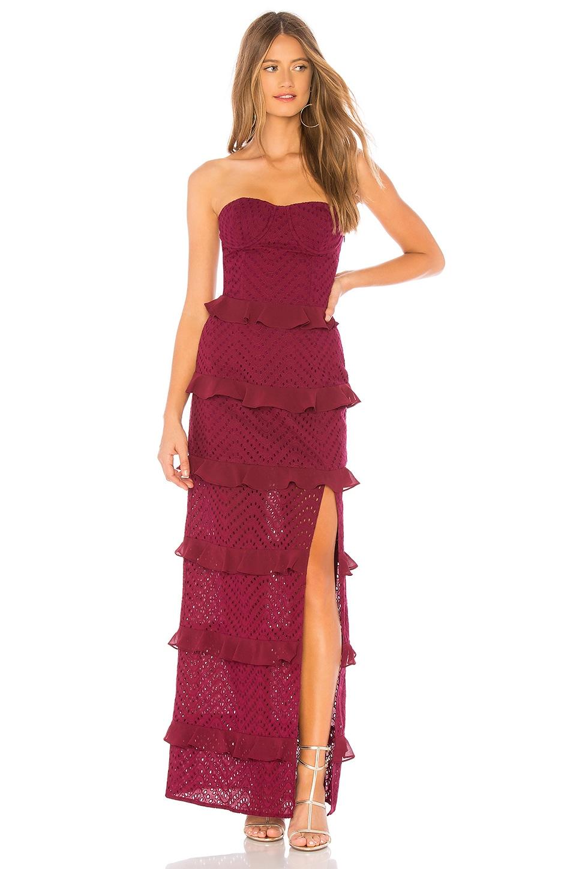 AZULU Starling Dress in Burgundy