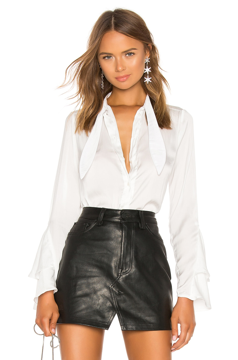 AZULU Paloma Blouse in White