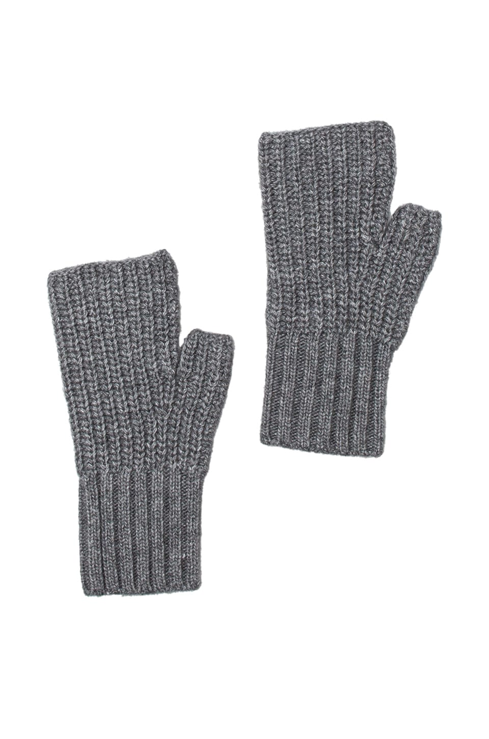 Autumn Cashmere Fingerless Gloves in Flannel