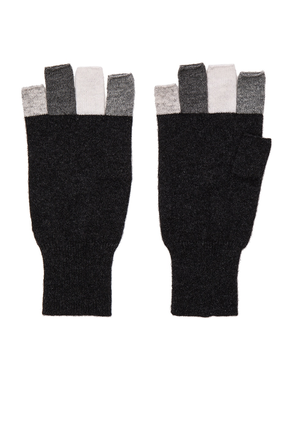 Autumn Cashmere Multi Fingerless Glove in Lead Multi