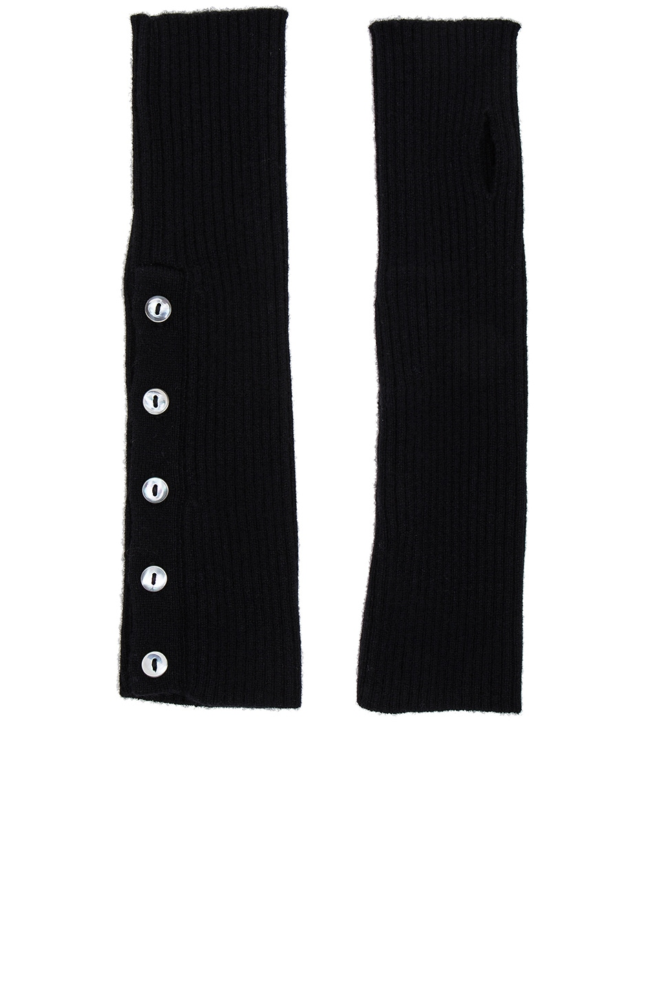 Buttoned Rib Arm Warmers by Autumn Cashmere