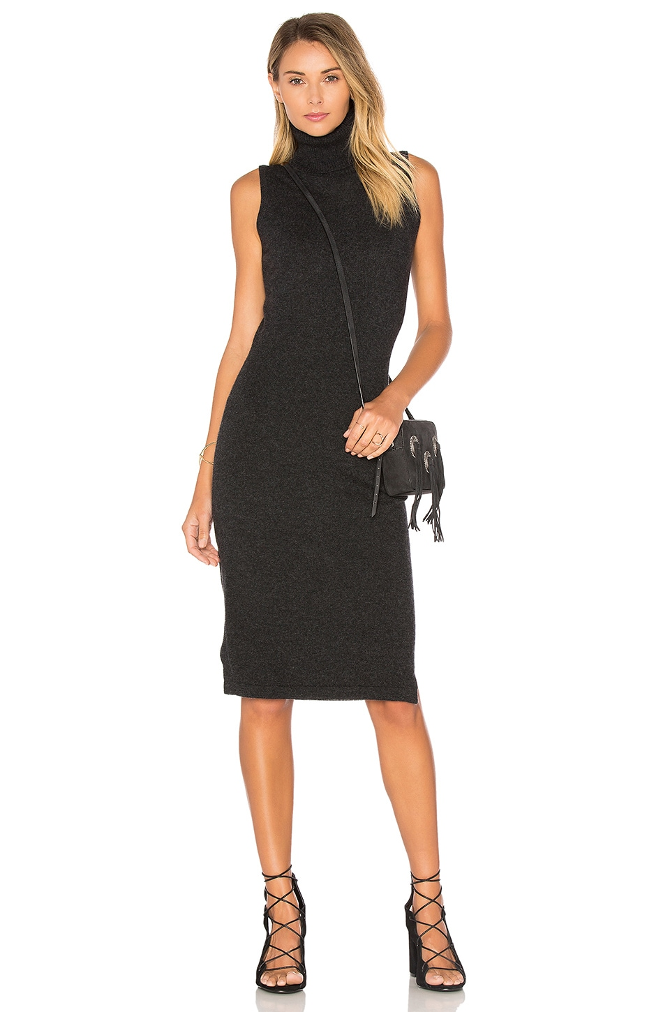 Sleeveless Turtleneck Sweater Dress by Autumn Cashmere