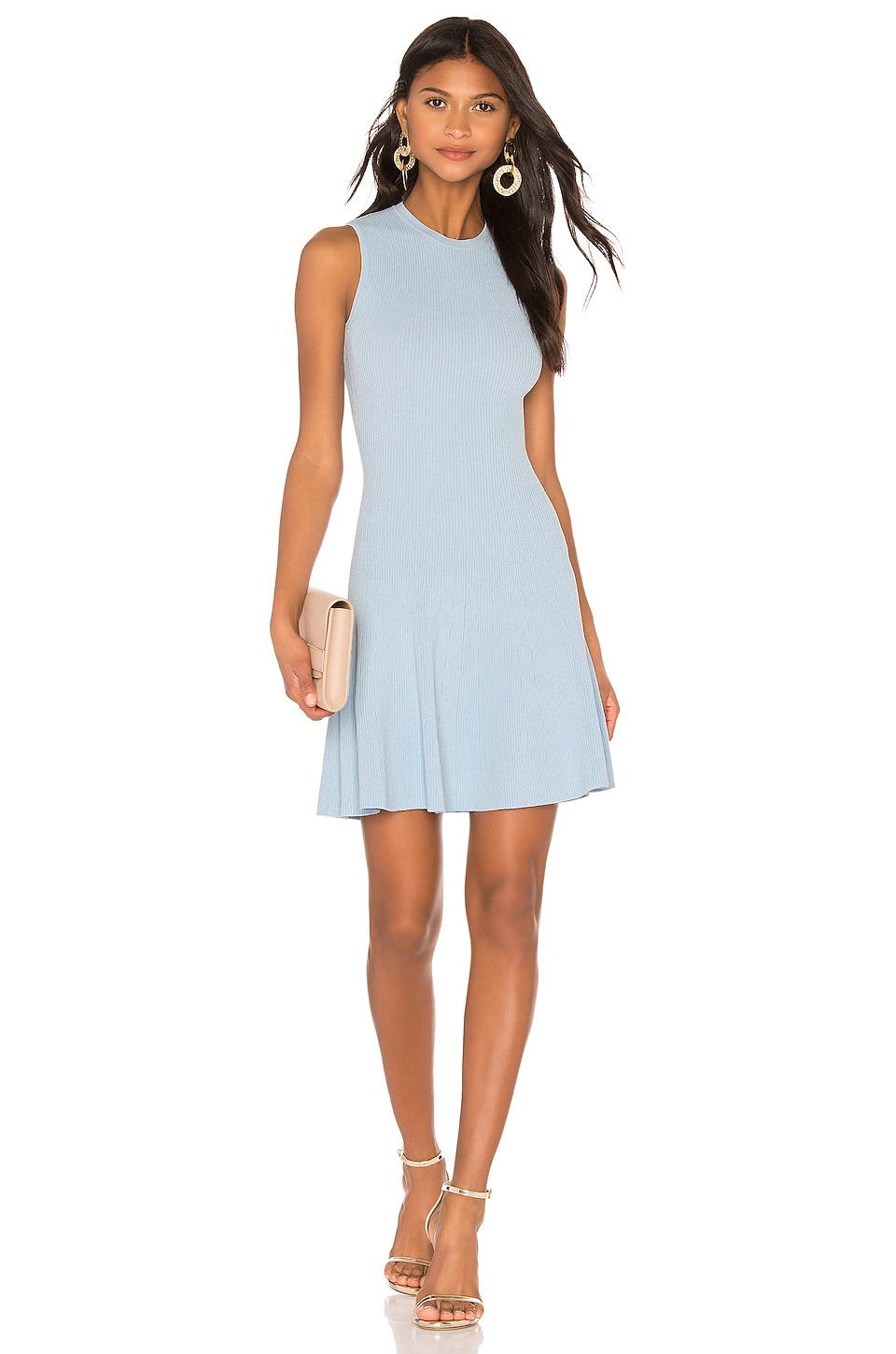 Autumn Cashmere Fit And Flare Dress in Baby Blue